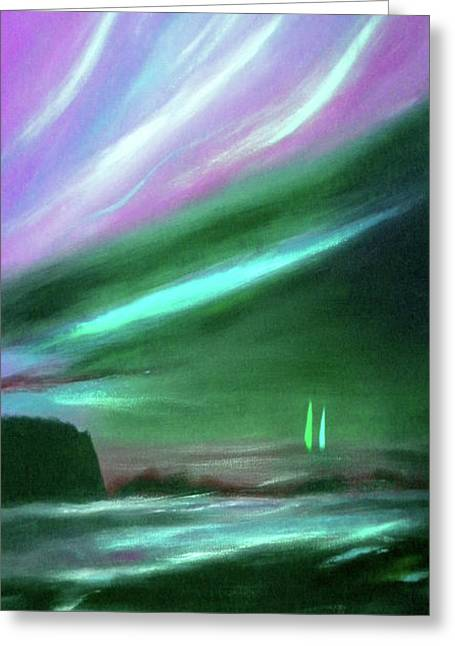 Abstract Style Greeting Cards - Peace Is Colorful 2 - Vertical Painting Greeting Card by Gina De Gorna