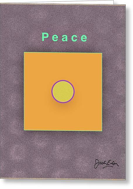 Peace Greeting Card by Jack Eadon