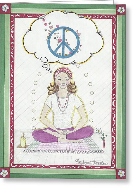 Peace Meditation Greeting Card