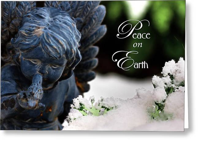 Greeting Card featuring the photograph Peace On Earth Angel by Shelley Neff