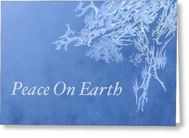 Peace On Earth Christmas Card Greeting Card