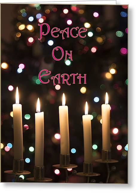 Peace On Earth Greeting Card by Jon Berghoff