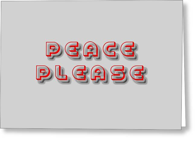 Peace Please Greeting Card by Yury Malkov