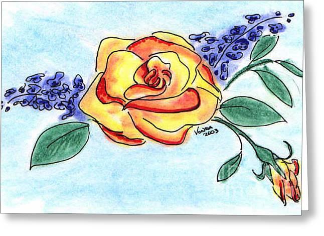 Peace Rose Greeting Card by Vonda Lawson-Rosa