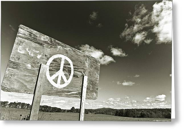 Peace Sepia Greeting Card