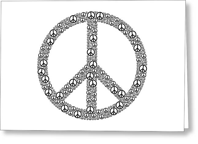 Peace Sign Greeting Card by Peter Hermes Furian