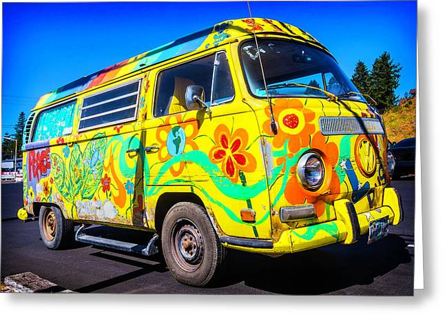 Peace Vw Greeting Card by Garry Gay