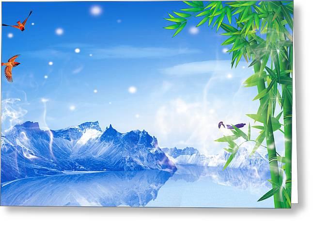 Peaceful 2 Greeting Card by An hy Quach hong