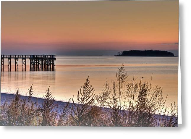 Peaceful Beach Sunrise Greeting Card by John Supan