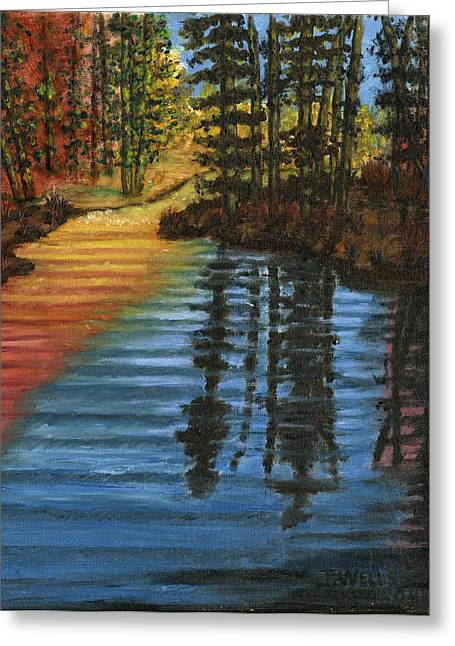 Peaceful Brook Greeting Card by Tanna Lee M Wells