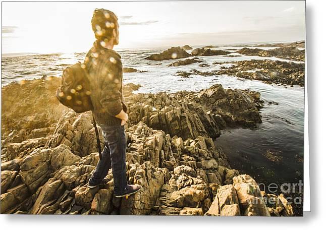 Peaceful Calm Of A Tasmanian Sea Landscape Greeting Card