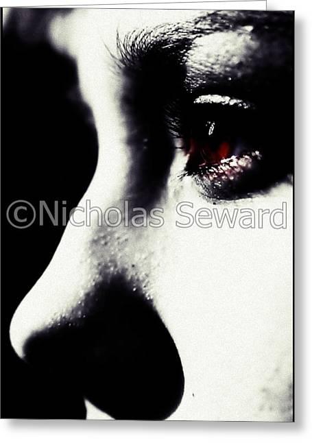 Peaceful Calm With A Focused Pain Greeting Card by Nicholas Seward