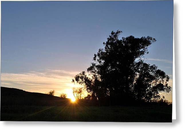 Greeting Card featuring the photograph Peaceful Country Sunset  by Matt Harang