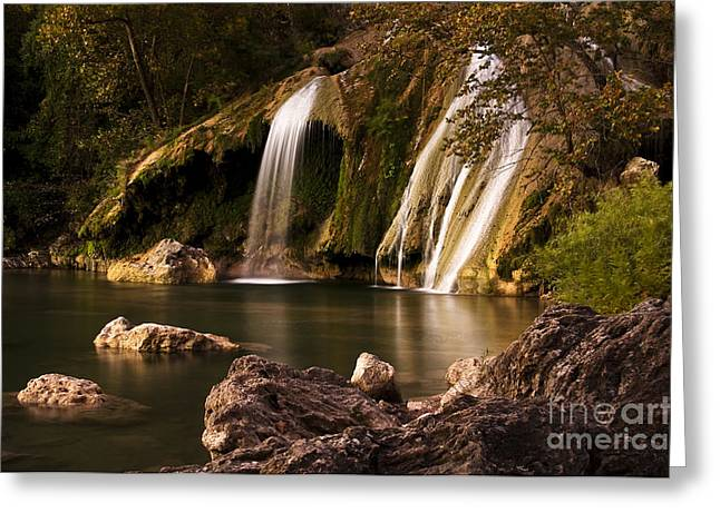 Greeting Card featuring the photograph Peaceful Day At Turner Falls by Tamyra Ayles