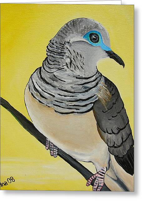 Peaceful Dove  Greeting Card by Una  Miller