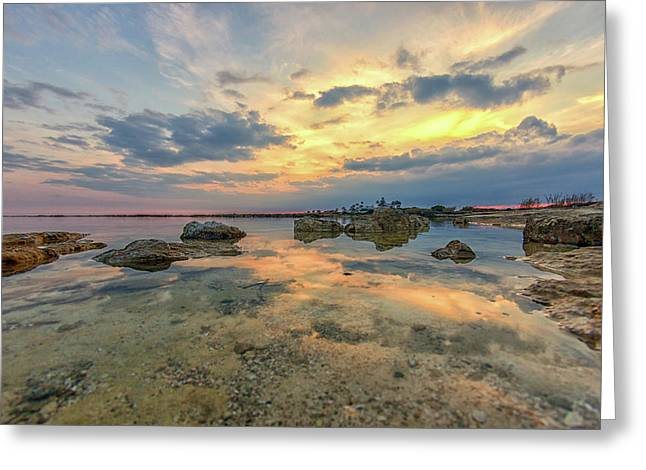 Peaceful Evening Greeting Card by Stelios Kleanthous