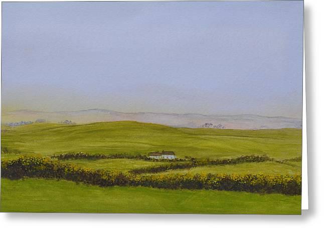 Peaceful Fields Of Ireland Greeting Card
