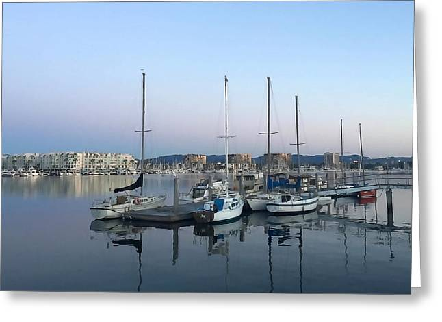 Peaceful Harbor Greeting Card by Art Block Collections