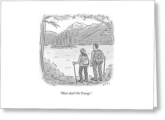 Peaceful Hikers Greeting Card
