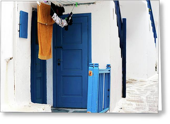 Peaceful Life In Mykonos Greeting Card