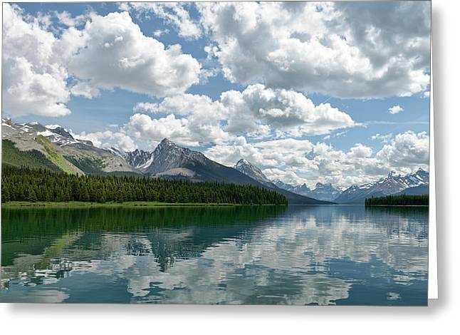 Peaceful Maligne Lake Greeting Card