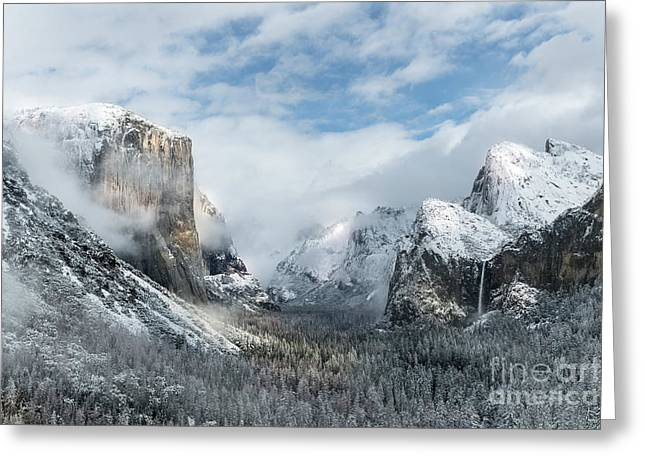 Peaceful Moments - Yosemite Valley Greeting Card by Sandra Bronstein