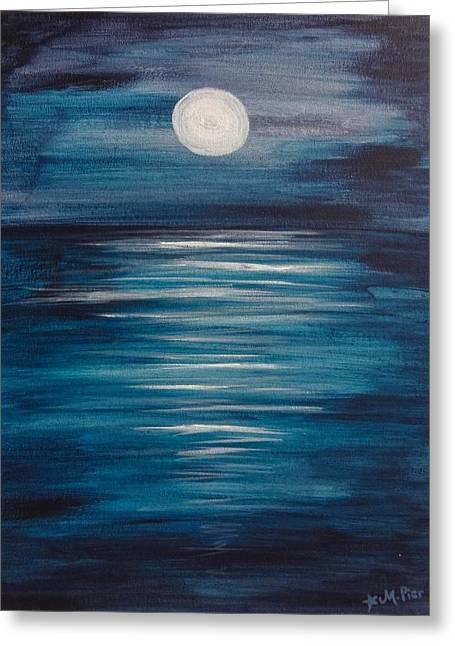 Peaceful Moon At Sea Greeting Card