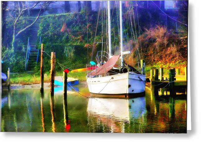 Greeting Card featuring the photograph Peaceful Morning In The Cove by Brian Wallace