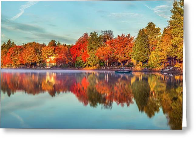 Peaceful Morning Greeting Card by Mark Papke