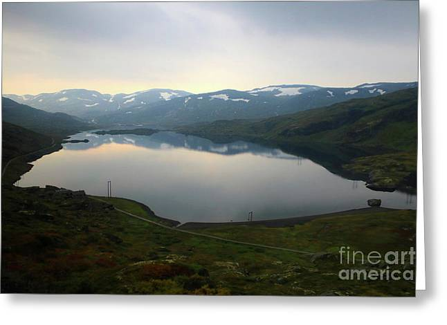 Peaceful Norwegian Lake Greeting Card by Carol Groenen