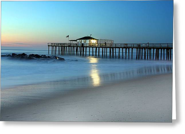 Ocean Grove Greeting Cards - Peaceful Pier Greeting Card by Jeff Bord