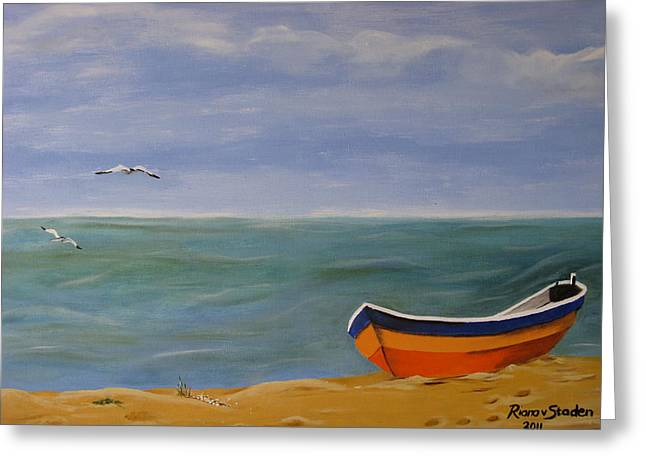 Greeting Card featuring the painting Peaceful Place by Riana Van Staden