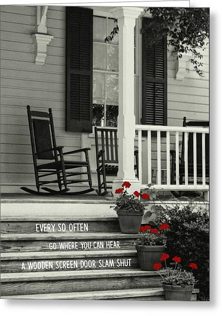 Peaceful Quote Greeting Card by JAMART Photography
