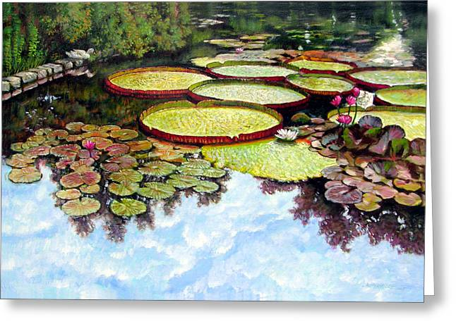 Peaceful Refuge Greeting Card by John Lautermilch