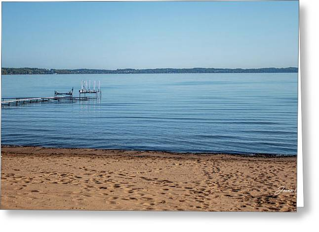Greeting Card featuring the photograph Grand Traverse Bay Beach-michigan  by Joann Copeland-Paul