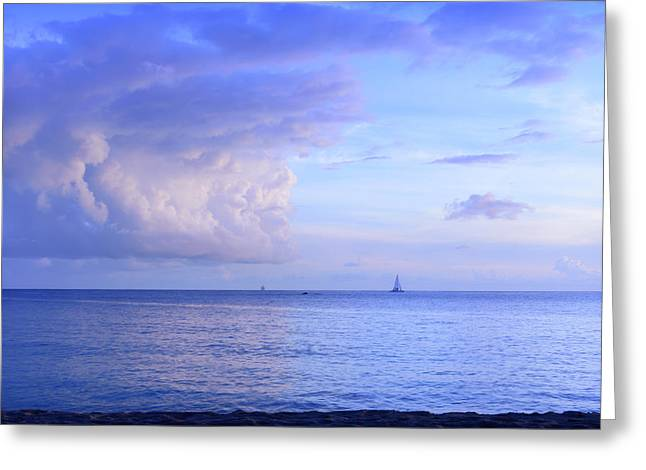Peaceful Sailing Greeting Card by Camille Lopez