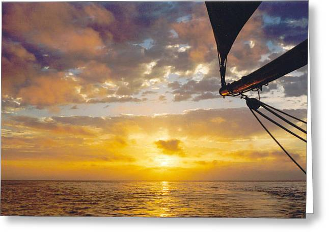 Kathy Schumann Greeting Cards - Peaceful Sailing Greeting Card by Kathy Schumann