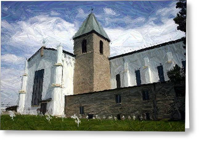 Peaceful Skies Over Abbey Of Gethsemani - Trappist Ky Greeting Card by Thia Stover
