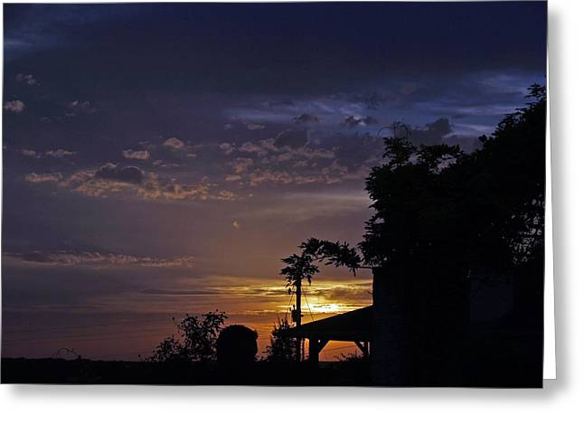 Peaceful Sunset Greeting Card by James Granberry