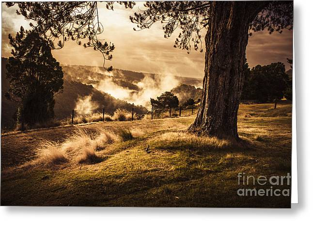 Peaceful Vintage Landscape Of A Rural Meadow Greeting Card by Jorgo Photography - Wall Art Gallery