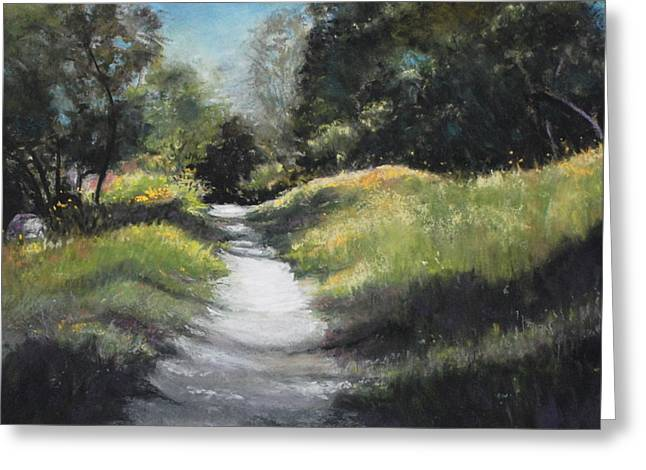 Peaceful Walk In The Foothills Greeting Card