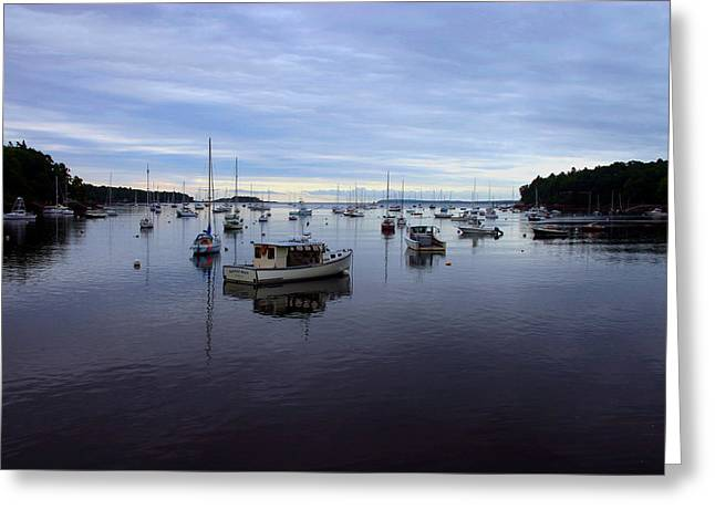 Peaceful Waters Greeting Card by Dennis Curry