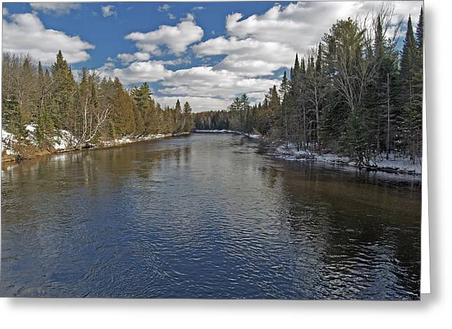 Peaceful Waters Greeting Card by Michael Peychich