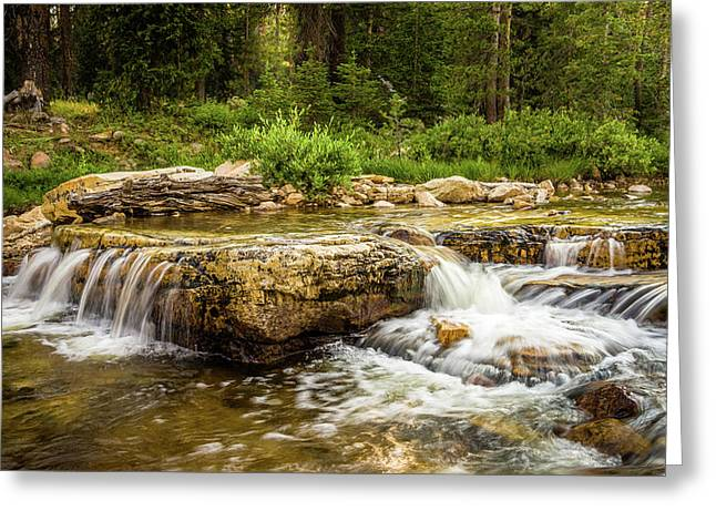 Peaceful Waters - Upper Provo River Greeting Card by TL Mair