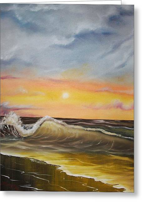 Peaceful Wave Greeting Card by Scott Easom