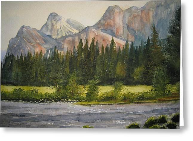 Peaceful Yosemite Greeting Card by Shirley Braithwaite Hunt