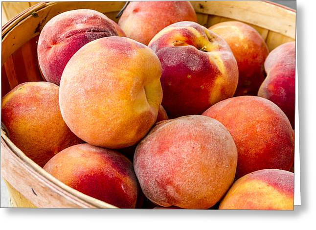Peach Beauties Greeting Card by Teri Virbickis