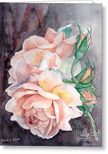 Peach Perfect - Painting Greeting Card