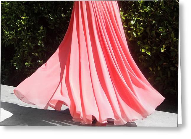 Peach Pink Chiffon Skirt. Ameynra Design 13-17 Greeting Card