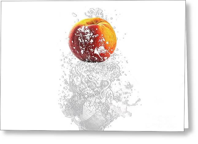 Peach Splash Greeting Card